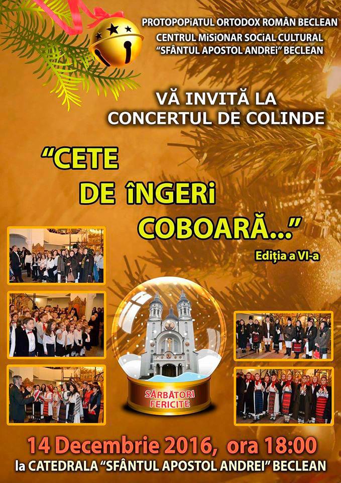 Concert de colinde Protopopiatul Ortodox Roman Beclean